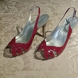 Guess Red High Heels size 8M